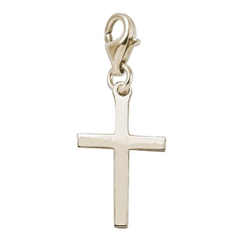 Rembrandt Charms Cross Charm with Lobster Clasp, Gold Plated (Rembrandt Cross)