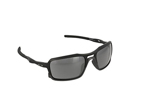 Oakley Men's Triggerman OO9266-01 Non-Polarized Iridium Rectangular Sunglasses, Matte Black, 58.5 mm (Oakley Crosshair)