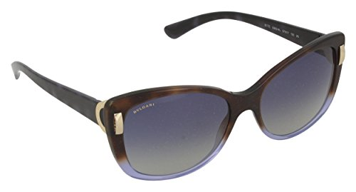 Bvlgari Women's BV8170 Sunglasses Havana Gradient Violet/Light Grey Gradient Blue 57mm
