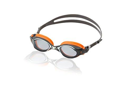 Speedo Bullet Swim Goggles, Grey/Orange, One Size ()