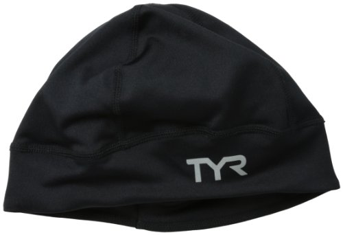 TYR Sport All Elements Running Beanie, Black, One Size