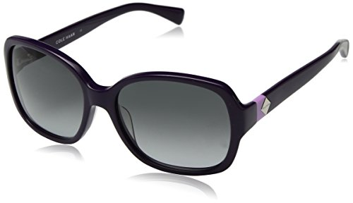Cole Haan Women's Ch7001 Plastic Butterfly Cateye Sunglasses, Purple, 56 - Case Cole Sunglass Haan