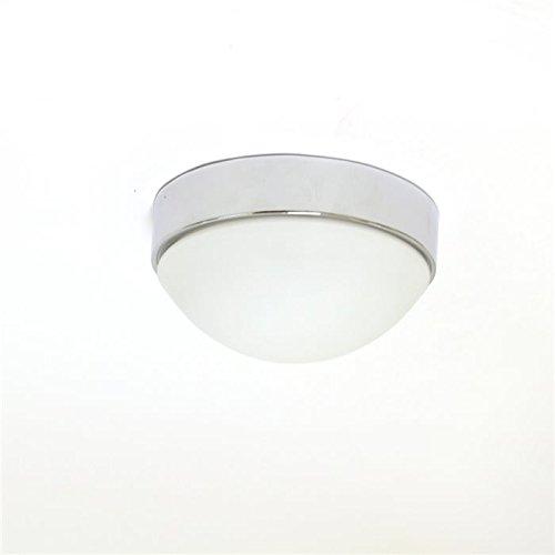 LED Lámpara de techo plafón Aki cromo con pantalla de cristal 24 cm de diámetro: Amazon.es: Iluminación