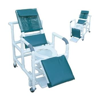 Amazon Com Reclining Shower Chair W Deluxe Elongated Open