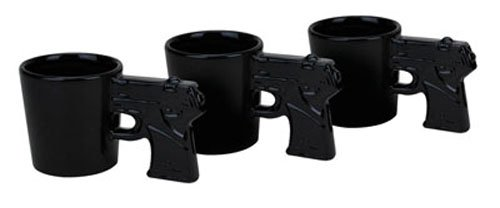BigMouth Inc Gun Shots Pistol Shaped Shot Glass Set