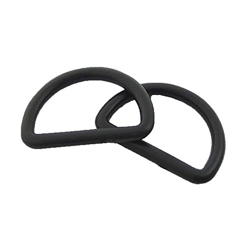 Plastic D Dee Rings for Webbing Belt Buckles Bag 25mm ()