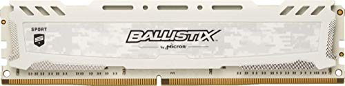 Crucial Ballistix Sport LT 3000 MHz DDR4 DRAM Desktop Gaming Memory Single 16GB CL15 BLS16G4D30AESC (White)