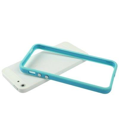 Mxnet Plastikstoßrahmen mit Knöpfen für iPhone 5 rutschsicher Telefon-Kasten ( Color : Baby Blue )