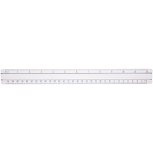 Westcott 12-Inch Data Processing Magnifying Ruler, Clear