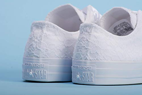 White Wedding Sneakers For Bride, Lace Bridal Trainers, Awesome Bride Tennis -
