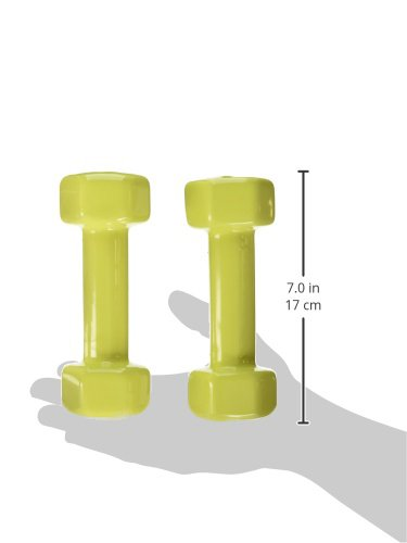 Yes4All PVC Dumbbells (Sold In Pair), Yellow, 3 lb