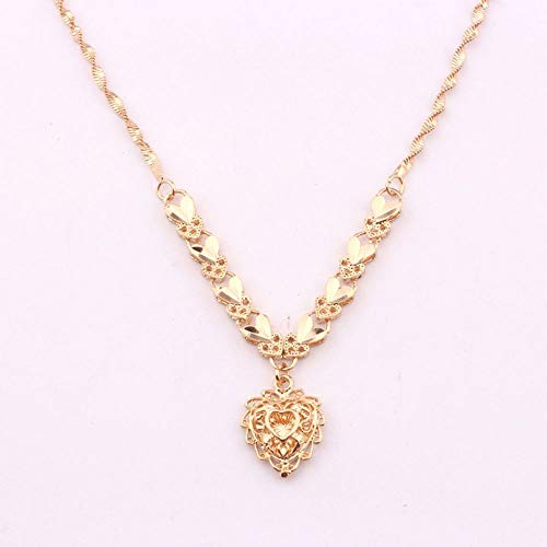 Gift Pendants Hollow Luxury Heart Pendant Jewelry Necklaces Gold Plated ()