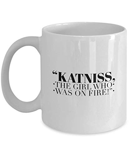 Science Fiction Movie Coffee Mug - Katniss The Girl Who Was On Fire - Adventure Film Series Actor Actress Character Novel Trilogy Fan Fandom 11 Oz -