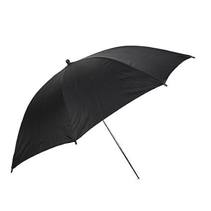 eDealMax Fotografía del Flash del estudio del Reflector paraguas 83cm Dia Negro Tono de Plata