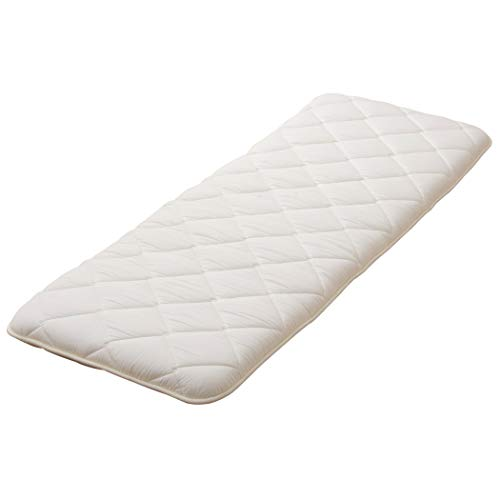 EMOOR Long Cushion, Mini Futon Mattress, Long Size 26x71x3in, White, Made in - Sa Futon