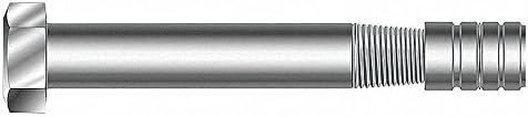 50 PK 2-1//4 Grade 5 Zinc Alloy Taper Bolt with Expansion Nut 3//8 Internal Thread Dia