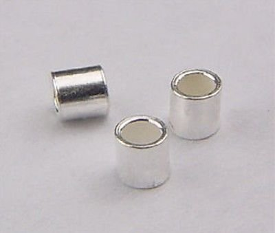 925 Sterling Silver 2x2mm Crimp Tube Spacer Beads 100pcs (2 Sterling Silver Spacer)