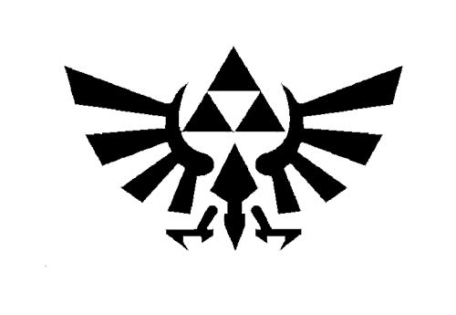 Creative Concepts Ideas Legend of Zelda CCI Decal Vinyl Sticker|Cars Trucks Vans Walls Laptop|Black|6.0 x 3.6 in|CCI2221]()