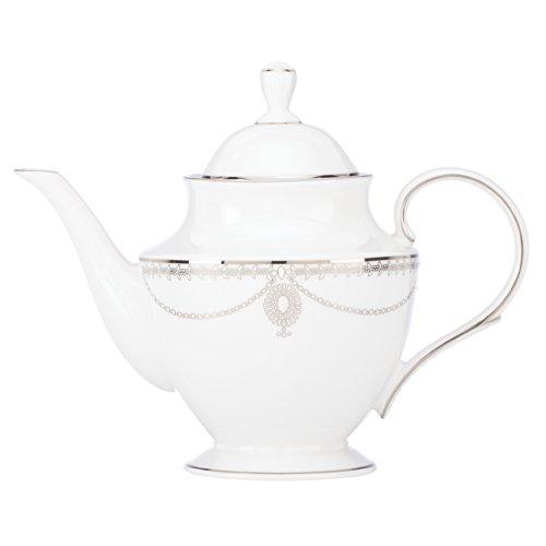 Empire Pearl Lenox Marchesa - Lenox Marchesa Empire Teapot, Pearl