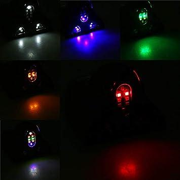 Color : Black W-Nuanjun-Hai LED Auto Solar Auto Antenne LED blinkende Antennen Haifischflosse Warnung R/ücklichter mit Controller Signal Antenne