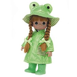 toys 4560 The Doll Maker Friends Come Rain or Shine Baby Doll 12 12 The Doll Maker Ribbit
