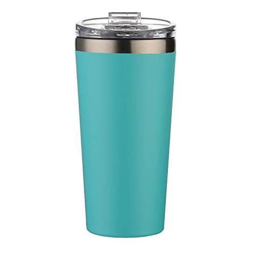 AA Products 16oz Tumbler-Vacuum Insulated Double-Walled 18/8 Stainless Steel Water Bottle / Travel Coffee Mug For Cars, Home,Office,School-Blue