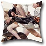 [Throw Pillow Case 16 X 16 Inches / 40 By 40 Cm(both Sides) Nice Choice For Dining Room,family,kids Girls,bf,wedding,boys Oil Painting Norman Rockwell - No] (0-3 Month Swimming Costumes)
