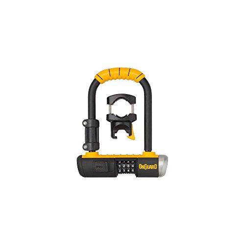 Onguard Bulldog Mini Combo Lock - Yellow, one Size (On Guard Mini U Lock)