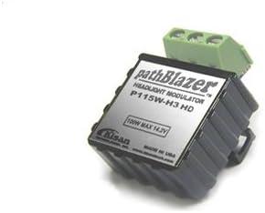 plug-n-play Kisan pathBlazer P115W-A2 Headlight modulator for bikes with H9//H11//H8 2-pin bulbs