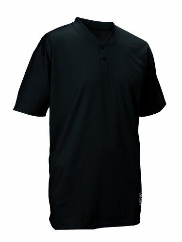 Easton Boys' 2 Button Placket Jersey, Black, X-Small