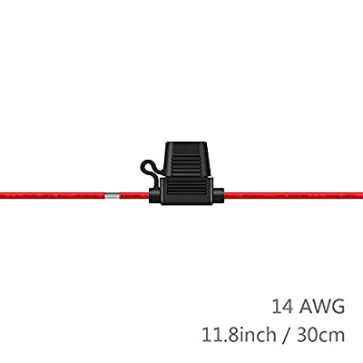 14 Gauge Fuse Holder ATC/ATO, SIM&NAT 10 Packs in-Line Automotive Blade Fuse Holder with 50PCS Standard Car Fuses, 1A 2A 3A / 4A 5A 7.5A 10A 15A 20A 30A Automotive Replacement Fuses: Car Electronics