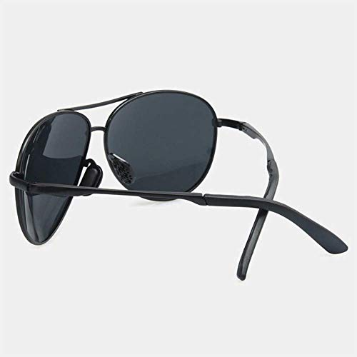 Gafas Metal Sol WFFH Hombre Conduciendo Mujer Espejo Y De Marco Polarizado Rana Negro Compras De Viaje Grande TgWqSW4