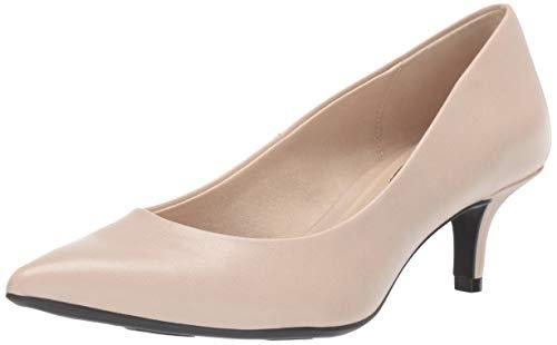 (LifeStride Women's Pretty Low Heel Pump, Soft Taupe, 11 M US)
