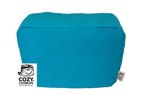 CozyCoverUp for Dualit Toasters 100% cotton Handmade in the UK (Turquoise, 2 Slice Classic New Gen)