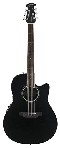 Ovation 6 String Acoustic-Electric Guitar, Right Handed, Black (CS24-5)