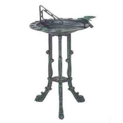 Birdbath and (Cast Aluminum Sundial)
