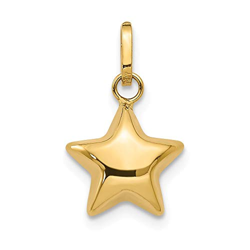 Jewelry Pendants & Charms Themed Charms 14k Puffed Star Charm