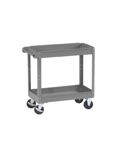 Tennsco SC-1630 Service Cart, 16'' Width, 32'' Height, 30'' Depth, 2 Shelves by Tennsco