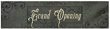 Victorian Frame Wind-Resistant Outdoor Mesh Vinyl Banner Grand Opening CGSignLab 12x3