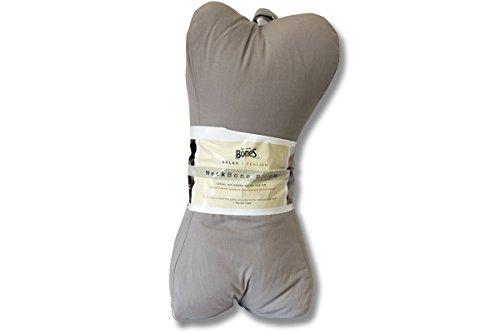 Original Bones NeckBone Pillows in Poly Cotton, Gray