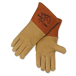 Revco Black Stallion 26 Long Cuff Grain Pigskin MIG Welding Gloves, X- by Revco from Revco Industries