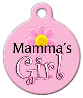 Mama's Girl - Custom Pet ID Tag for Cats and Dogs - Dog Tag
