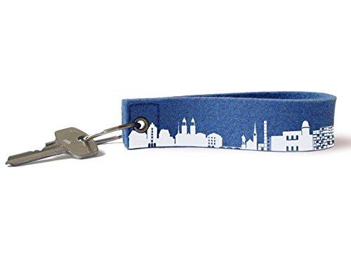 2 Zurich 44spaces Bande Main Feutre clés En Clé De Porte Bleu nbsp;couleurs Skyline wztxqOS4z