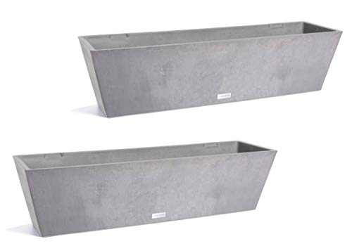 Veradek Window Box Planter - 2 Pack (36 inches, Charcoal)