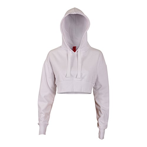 crop hooded sweatshirt - 1