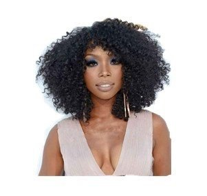 hot selling !14   Afro Curly Brazilian Virgin Hair Lace Front Wigs with Baby 8ad9adc0ac41