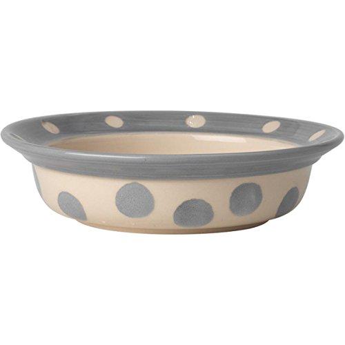 - PetRageous 14015 Polka Paws Saucer Gray 1.5 Cups Bowl