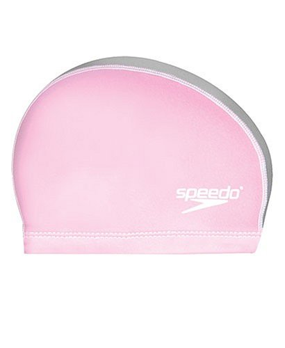 Stretch Cap Speedo (Speedo Silicone Stretch Fit Swim Cap, Pink/Silver, Small/Medium)