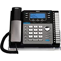 RCA 25425RE1 SOHO Series 4-Line Expandable Corded Business Telephone with Speakerphone and Answering Machine