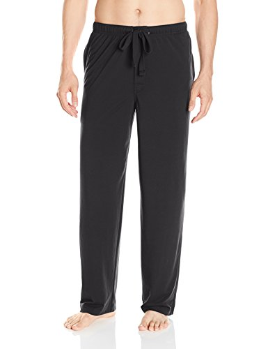 IZOD Men's Sueded Jersey Sleep Pant, Black, Small ()